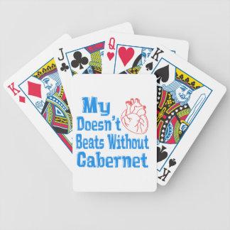 Mi corazón no hace los golpes sin Cabernet. Barajas De Cartas