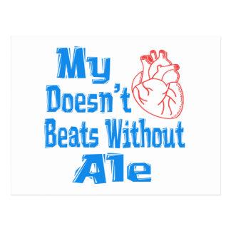 Mi corazón no hace los golpes sin cerveza inglesa postal