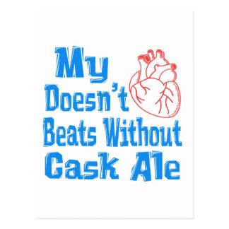 Mi corazón no hace los golpes sin cerveza inglesa postales