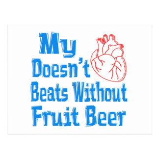 Mi corazón no hace los golpes sin la cerveza de la postal