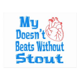 Mi corazón no hace los golpes sin la cerveza de postal