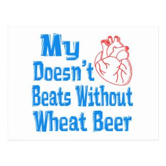 Mi corazón no hace los golpes sin la cerveza del postal