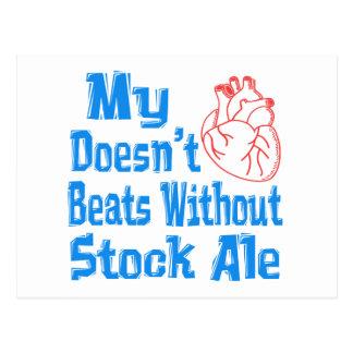 Mi corazón no hace los golpes sin la cerveza postal