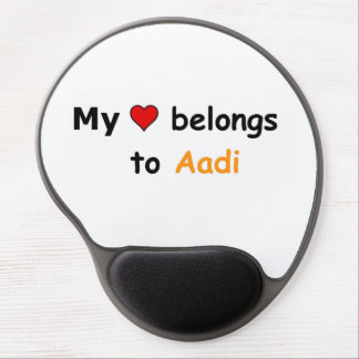 Mi corazón pertenece a Aadi Alfombrilla Con Gel