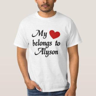 Mi corazón pertenece a Alyson Playera