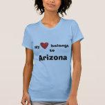 Mi corazón pertenece a Arizona Camisetas