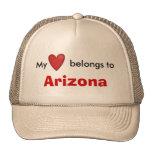 Mi corazón pertenece a Arizona Gorros