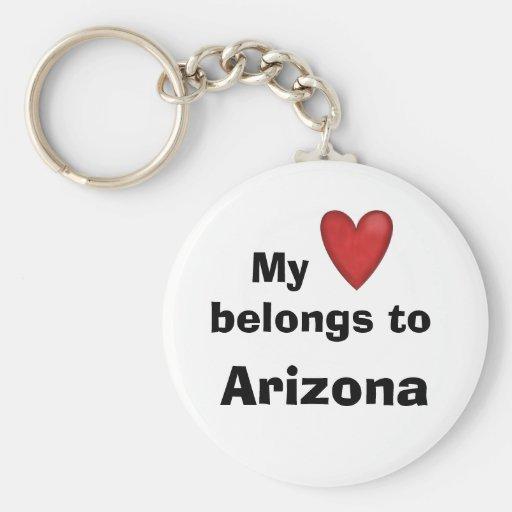 Mi corazón pertenece a Arizona Llavero Personalizado