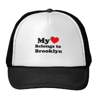 Mi corazón pertenece a Brooklyn Gorros Bordados