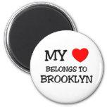 Mi corazón pertenece a BROOKLYN Imán Redondo 5 Cm