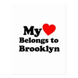 Mi corazón pertenece a Brooklyn Postales