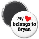 Mi corazón pertenece a Bryan Imanes De Nevera