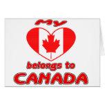 Mi corazón pertenece a Canadá Tarjeton
