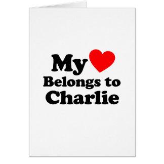Mi corazón pertenece a Charlie Tarjeta De Felicitación