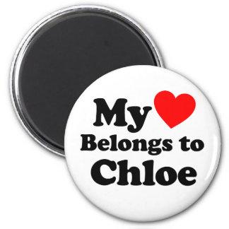Mi corazón pertenece a Chloe Imán De Frigorífico