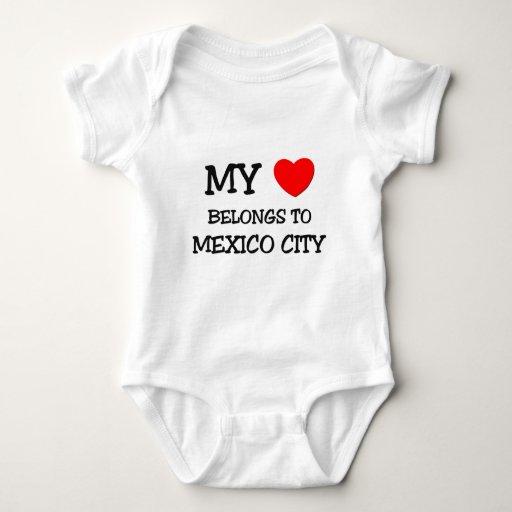 Mi corazón pertenece a CIUDAD DE MÉXICO Playeras