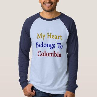 Mi corazón pertenece a Colombia Poleras