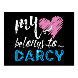 Mi [corazón] pertenece a Darcy - Jane Austen Tarjetas Postales