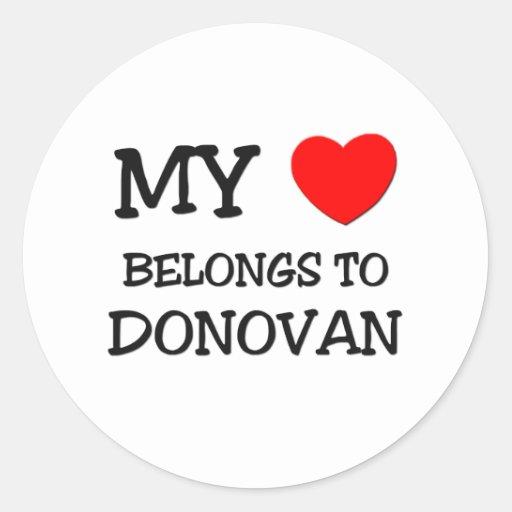 Mi corazón pertenece a Donovan Etiquetas