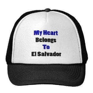 Mi corazón pertenece a El Salvador Gorras