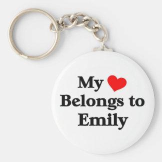 Mi corazón pertenece a emily llaveros