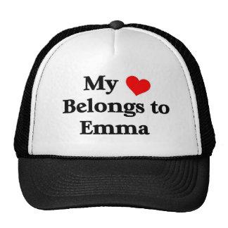 Mi corazón pertenece a Emma Gorras De Camionero