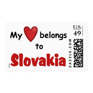 Mi corazón pertenece a Eslovaquia Franqueo