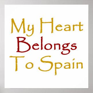 Mi corazón pertenece a España Impresiones