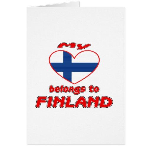 Mi corazón pertenece a Finlandia Tarjeta De Felicitación