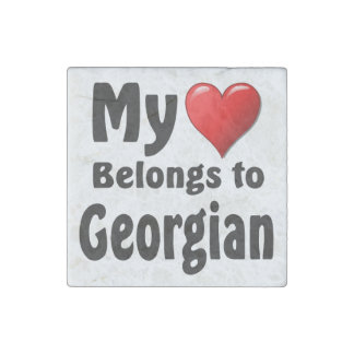 Mi corazón pertenece a georgiano imán de piedra