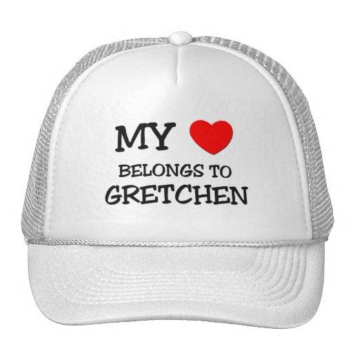 Mi corazón pertenece a GRETCHEN Gorro De Camionero