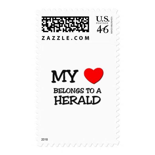 Mi corazón pertenece a HERALD Sello