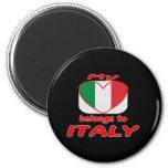Mi corazón pertenece a Italia Imanes