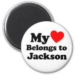 Mi corazón pertenece a Jackson Iman Para Frigorífico