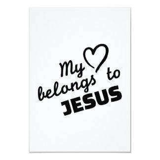 """Mi corazón pertenece a Jesús Invitación 3.5"""" X 5"""""""