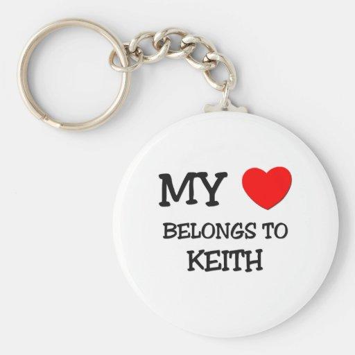 Mi corazón pertenece a Keith Llavero Redondo Tipo Pin