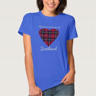Mi corazón pertenece a la camiseta de Escocia Remera