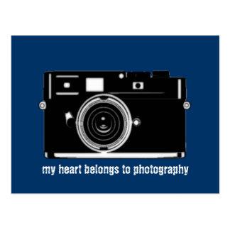 mi corazón pertenece a la fotografía postal
