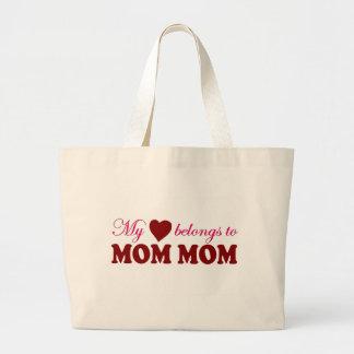 Mi corazón pertenece a la mamá de la mamá bolsas