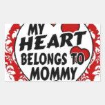 mi corazón pertenece a la mamá rectangular altavoces
