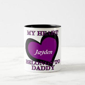 Mi corazón pertenece a la taza de café del papá