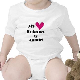 Mi corazón pertenece a la tía trajes de bebé