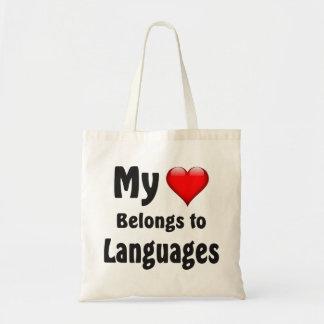 Mi corazón pertenece a las idiomas bolsas