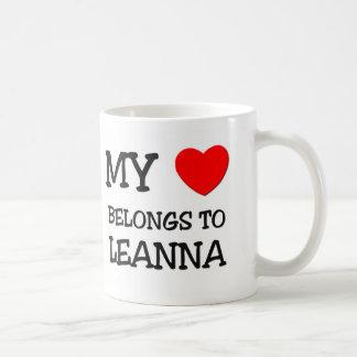 Mi corazón pertenece a LEANNA Taza De Café