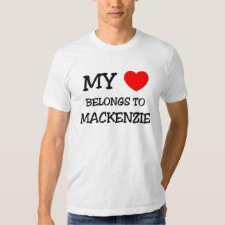 Mi corazón pertenece a MACKENZIE Playera