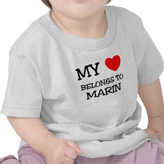 Mi corazón pertenece a MARIN Camisetas