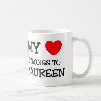 Mi corazón pertenece a MAUREEN Taza Clásica