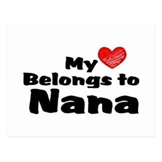 Mi corazón pertenece a Nana Postales