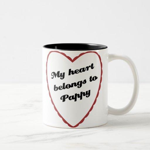 Mi corazón pertenece a Pappy Taza Dos Tonos