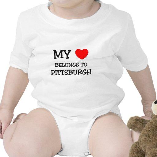 Mi corazón pertenece a PITTSBURGH Traje De Bebé